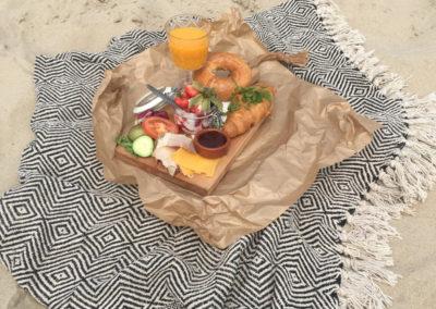 ontbijten op strandpaviljoen Noord